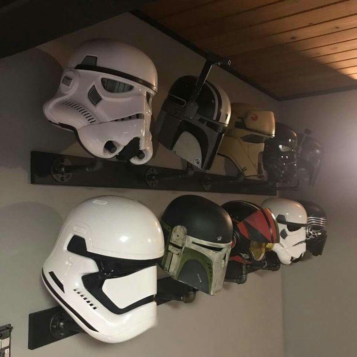 Helmet display star wars room star wars helmet star