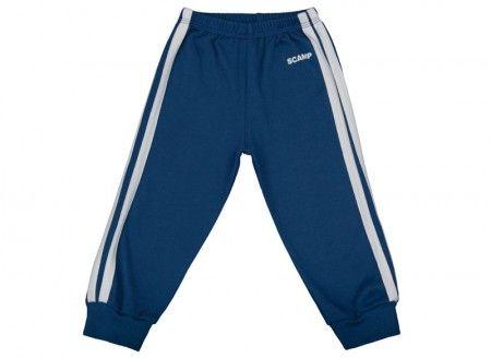Pantalonaşi cu elastic în talie albastru închis-alb 100% bumbac | Cod produs: NIG125