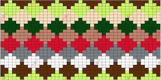 Tejer en técnica Tapestry / Desafío de septiembre   Crochet y Dos agujas