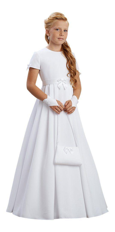 Arlette Kommunionkleid Kleid Kommunion Kommunionskleid, weiß, 146