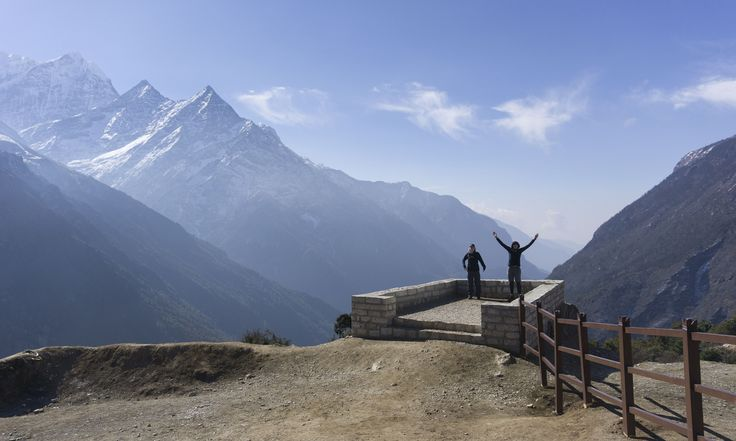 A spectacular shot from Kristen Mehan, from her Everest Lodge to Lodge trek 'Khumbu' in Nepal in March. We think it gives you a sense of the scale of the world's biggest mountain range.#adventuretravel#activeadventures#himalayas#hiking#photography