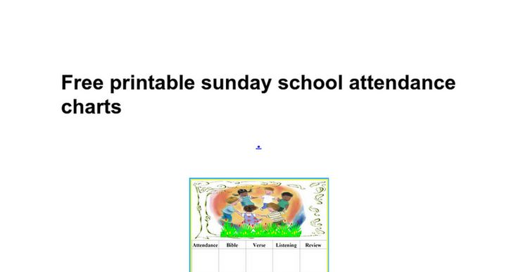 Free printable sunday school attendance charts .   Download               School attendance sheets free printables attendance chart for sunday school / free attendance chart for. Sunday school attendance chart printable attendance chart printable for free. 1000 ideas about attendance chart on pi...