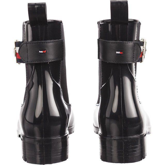 Kalosze Damskie Tommyhilfiger Granatowe Tommy Hilfiger Corporate Belt Rain 403 Rain Boots Boots Rubber Rain Boots