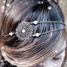 *new* headband bijoux de tête vintage bronze