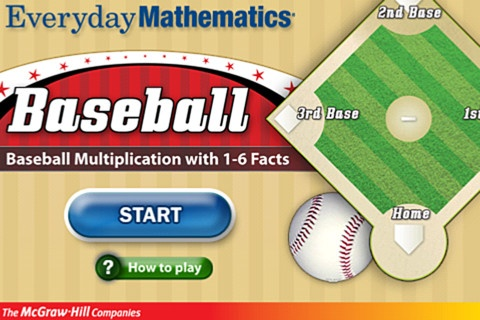 Everyday Mathematics® Baseball Multiplication™ 1–6 Facts  ($1.99) practice and reinforce basic multiplication facts (1–6). - 2 players (for extra practice, a single player can play as Player 1 and Player 2)  - 3 innings of competitive game play  - Practices basic multiplication facts from 1 to 6  - Correct and incorrect answer feedback  - Guided/Unguided play: Math App, Activities For Kids, Multiplication Facts, Everyday Mathematics, Education App, Best Multiplication App, App Math, Education Ipad, Basebal Schools Activities