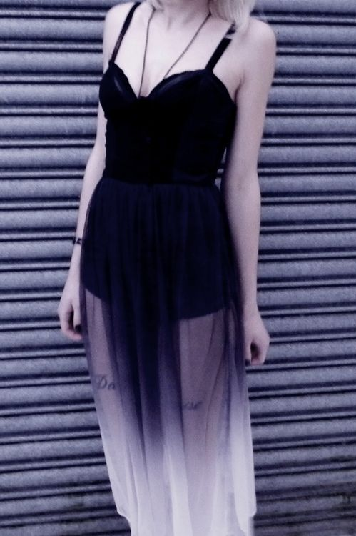 Love this goth ombre dress x