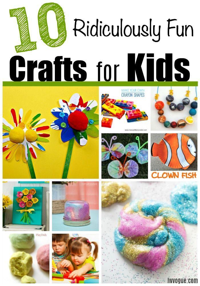 10 einfache und lustige Bastelarbeiten für Kinder! Dieses einfache Handwerk wird Kinder inte …   – Art and Crafts for Kids