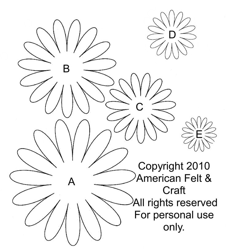 Gerbera Daisy Pattern from American Felt and Craft.
