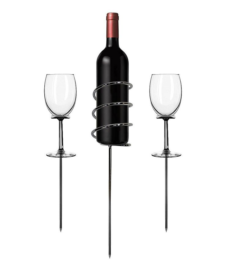 Take a look at this Chrome Wine Garden Stake Set today!
