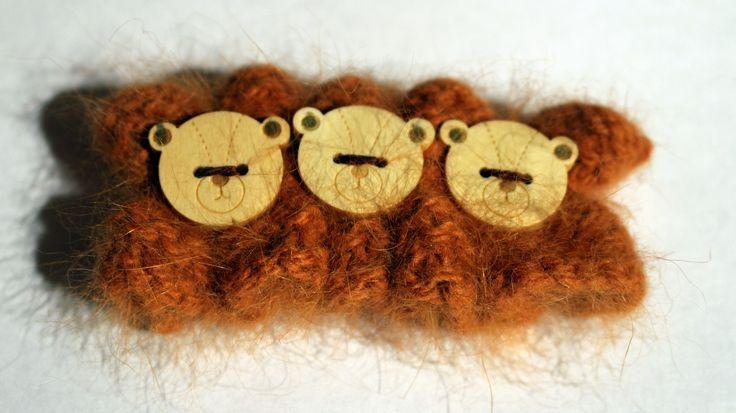 """Barrette enfant modèle """"ours bruns"""" : Bijoux enfants par une-fille-dans-le-vent"""