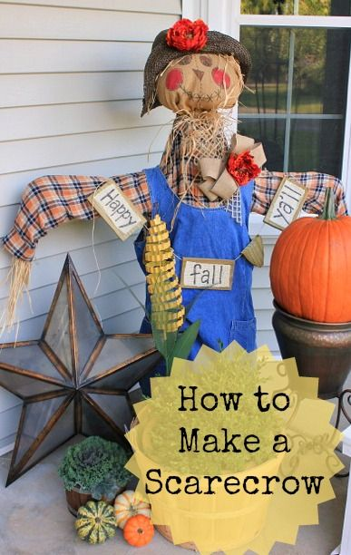 How to Make a Scarecrow! This would be fun if people brought their own materials! I can bring hay no prob!