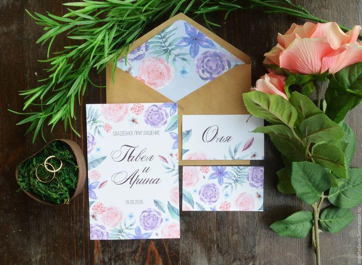 Купить или заказать Свадебные приглашения акварельные, Цветы весенние в интернет-магазине на Ярмарке Мастеров. Добро пожаловать в студию свадебного эко-декора «Мирт»! Мы очень ценим Вас, ваше Время и Внимание. И в своей работе стараемся достичь взаимного понимания и уважения друг к другу! Если у Вас возникают вопросы, обязательно напишите нам, и мы постараемся максимально ясно и подробно ответить на них. Ответы на самые часто возникающие вопросы по полиграфии в правилах магазина.…