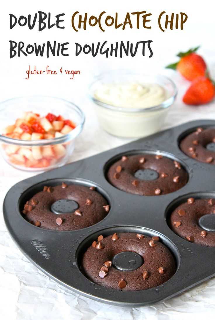 Gluten-Free Vegan Double Chocolate Baked Doughnuts, sounds awesome - I'd just sub pear sauce for apple sauce