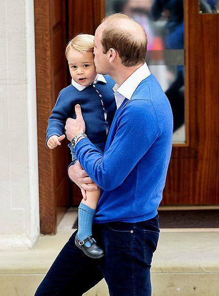 Принц Уильям с сыном принцем Джорджем