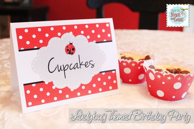 Food labels from card stock and stickers - This would be easy to change based on the theme of your party.