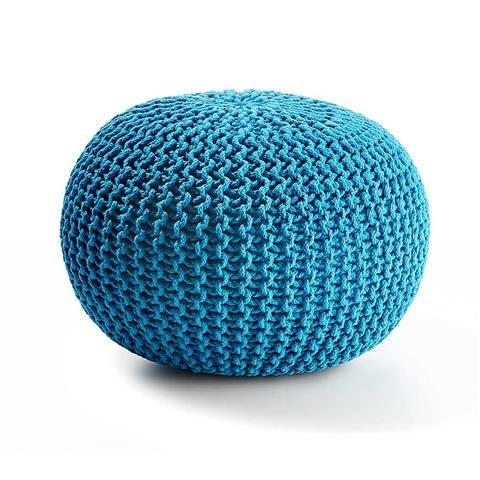 $29 Kmart - Knitted Ottoman - Blue Petrol | Kmart