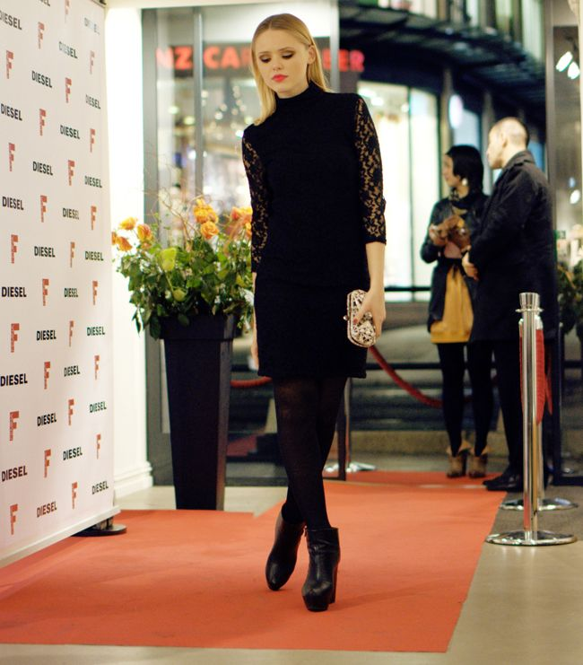 Image result for boots and dress holiday