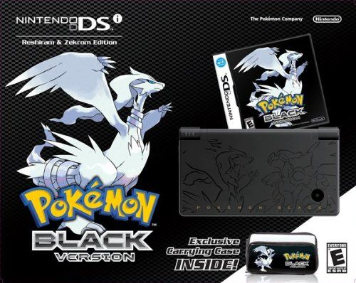 "Pokemon Black Version Bundle Overview    Includes: Black Nintendo DSi System w/Pokémon Black Version game pack, Exclusive Carrying Case, Nintendo DSi AC Adapter, Nintendo DSi Stylus (2), Easy Start Guide and Manuals (Basic & Controls), Support Booklet. Game type: Role-Playing Game (RPG) Players: One Player; (2-5 multiplayer) Game Rating: ""E"" Comic Mischief and Mild Cartoon Violence Language: English Only"