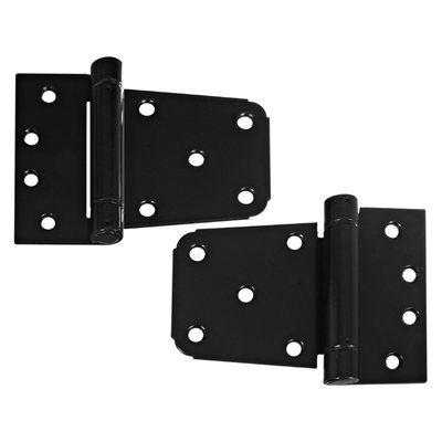 Stanley National Hardware Cd2908 Black 3 1 2 In Heavy Duty Gate Hinge Set 2 Pack Home