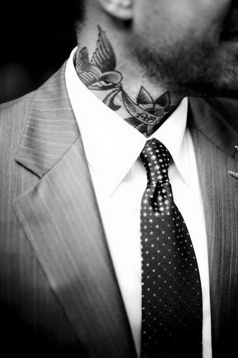Suits and tattoos