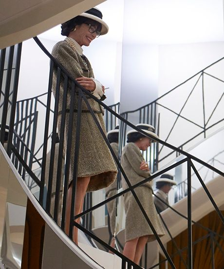 One of the few staircases that could beat Scarlett's. Karl Lagerfeld Recreates The Story Of Chanel, Does Dallas #refinery29