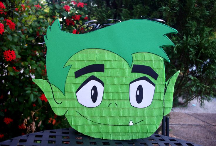 Beast Boy Teen Titans Go Inspired Pinata by AbdisPinataShop on Etsy https://www.etsy.com/listing/239730272/beast-boy-teen-titans-go-inspired-pinata