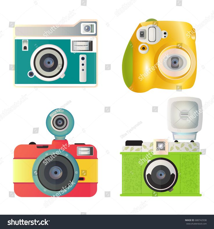 A set of bright cameras