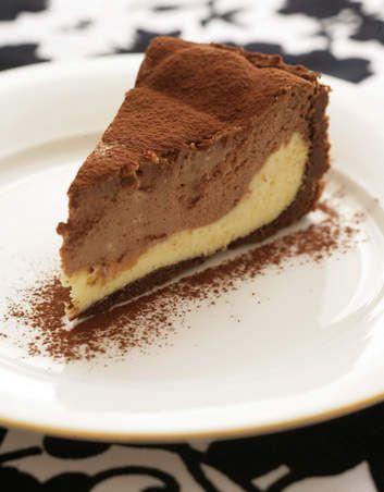 Two-tone+chocolate+cheesecake.