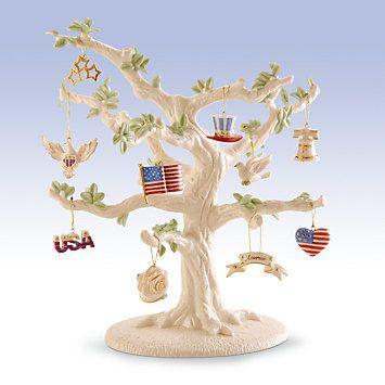 Patriotic Ornament & Tree 11-piece Set by Lenox