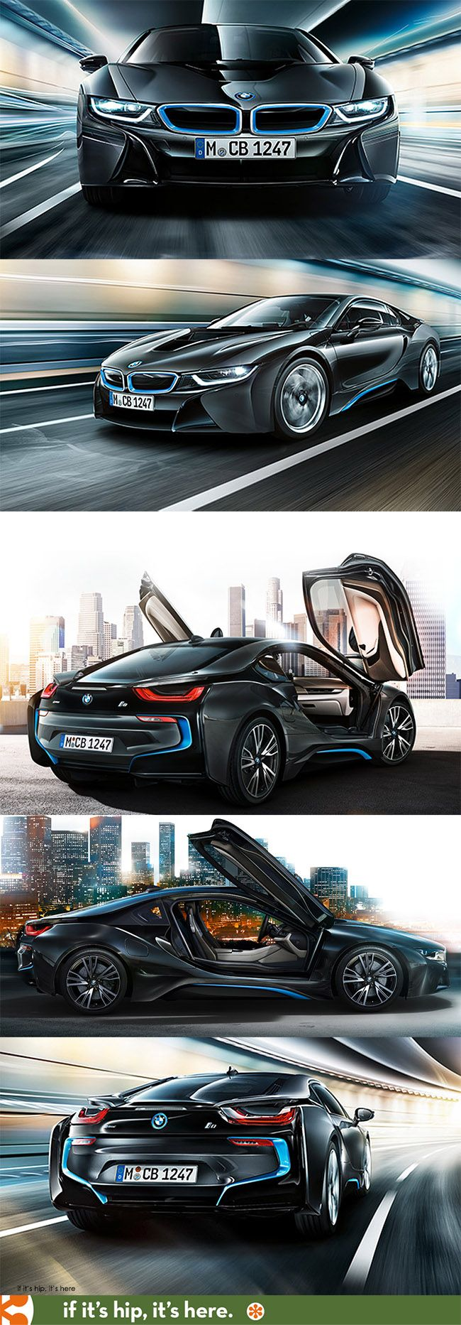 The BMW i8 hybrid plug in with gullwing doors. Comes with Louis Vuitton luggage, too.