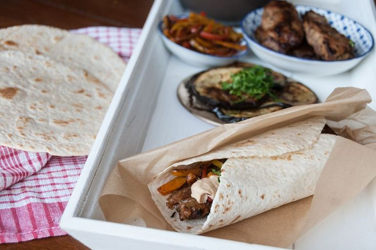 Lamb Wraps and White Bean Hummus recipe by greek chef Akis. A delicious recipe, these wraps are the perfect grab-and-go meal.
