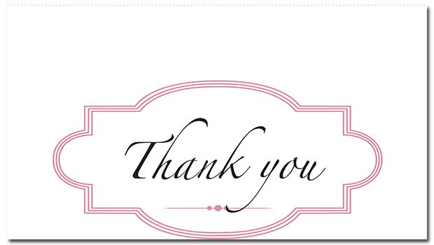 Ribbon & Lace Suite Thank You Card - paper, seed, thank, cards, printed, plain, add, ... - EcoCelebrations