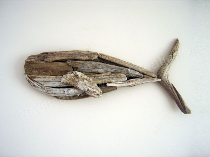 Driftwood Whale - Hanging Wall Sculpture Beach Art 26 x 12. $175.00, via Etsy.
