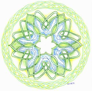 Celtic knot in a mandala, heart, hartenknoop, Keltisch vlechtwerk by Kim Vermeer