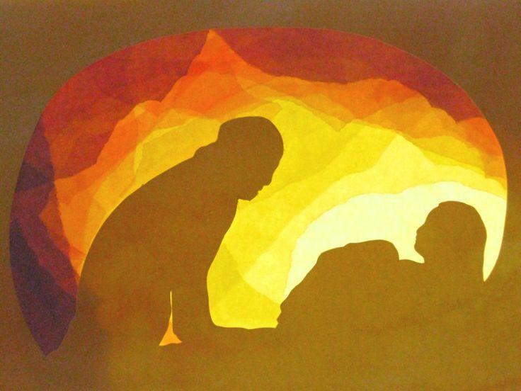 Fensterschmuck - Die Geburt des Jesuskindes - ein Designerstück von art4windows bei DaWanda