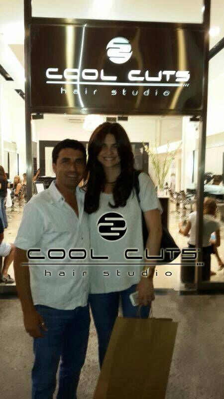 Alvaro de Cool Cuts junto a Araceli Gonzalez que nos visito en nuestro salon de Shopping Palmas del Pilar