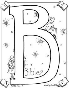 """B is for Bible"" free coloring page"