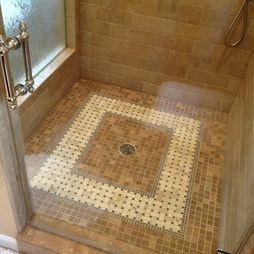Tile Shower Floor Design Ideas Pictures Remodel And Decor