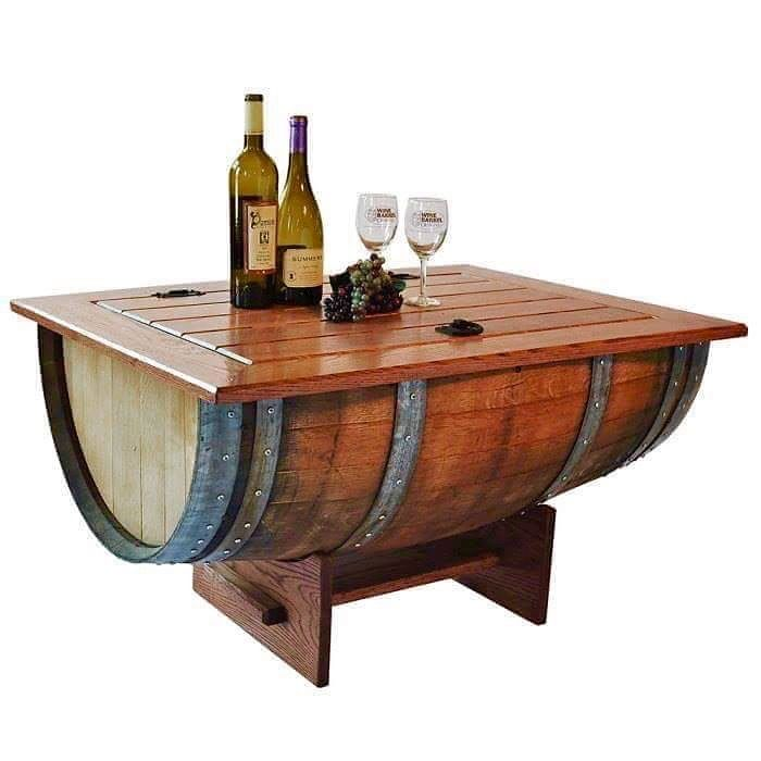 36 best wine barrel furniture made in the usa images on for 1 2 wine barrel table