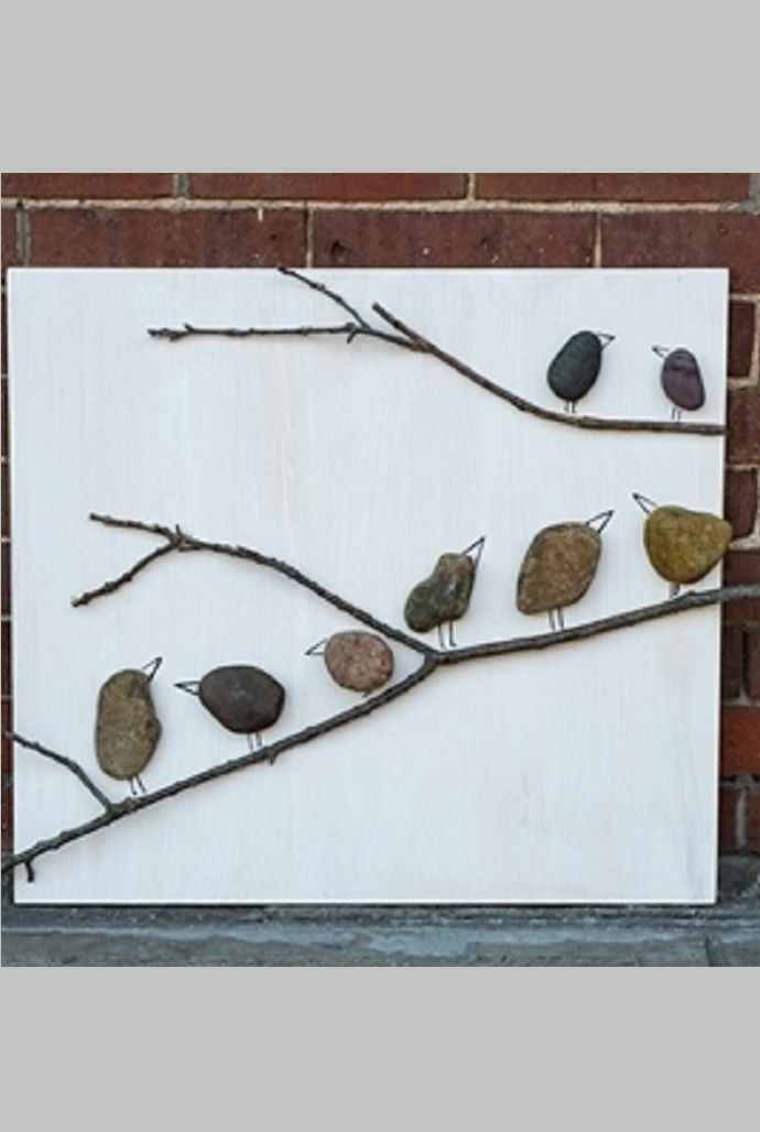 Make TREE BRANCH BIRD ART