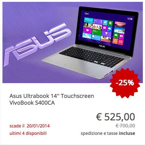 #Asus Ultrabook touchscreen VivoBook #S400CA