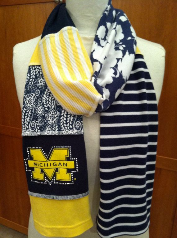 University of Michigan scarf - skinny with BLING