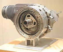 WThe first DKM Wankel engine designed by Felix Wankel, the DKM 54 (Drehkolbenmotor), at the Deutsches Museum in Bonn, Germany: the rotor and its housing spin.ankel engine - Wikipedia, the free encyclopedia