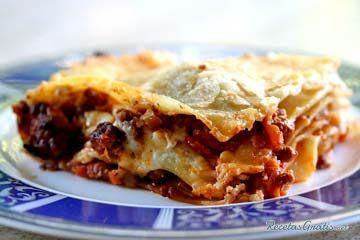 Receta de lasagna con bolognesa - RecetasGratis.net