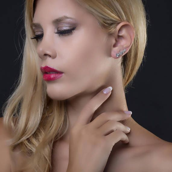 Daisisies Ear ClimberEar Cuff Earring925 Sterling
