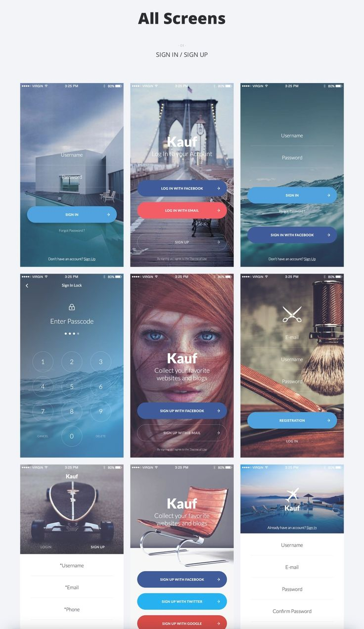 Kauf iOS UI Kit is the first interaction ready, high quality premium pack of 67 handcrafted stress-free screens, meant to speed up your design workflow. This pack comes with 5 categories (Sign-in & Sign-up, E-commerce, Reader & Articles, Profiles & Social