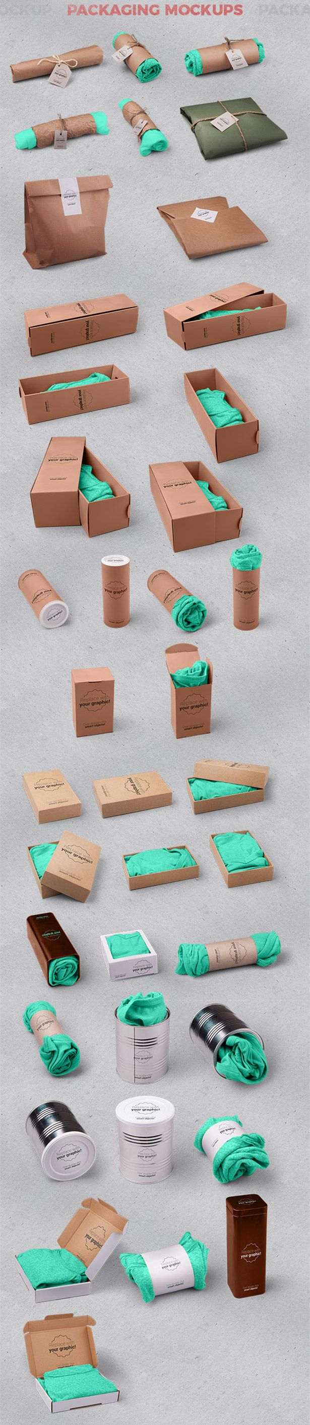 T-shirt and Packages Mockups and Hero Images Scene Generator / Perspective View / by CreativeForm