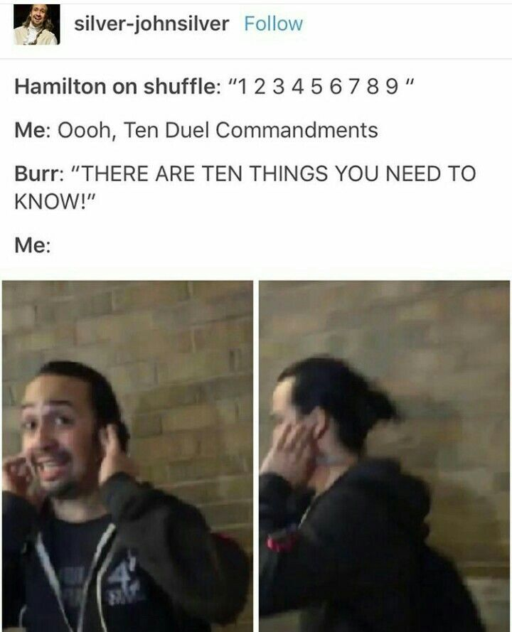 Ah, the horrible fear that strikes when Burr sings rather than Laurens.<<I get so nervous because the key change is so subtle that you don't know until one of them starts singing.