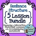 This is a BUNDLE of my 5 sentence structure lessons! Save over 25% when you purchase the bundle!  Packed with unique memory aids, fresh practice se...