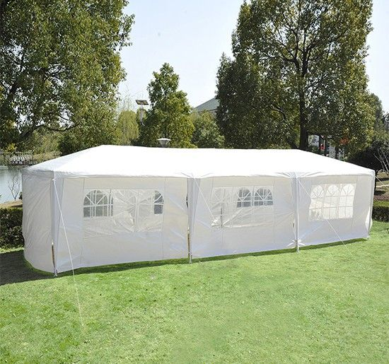 Outsunny 10' x 30' Party Gazebo Tent with 8 Walls - Outdoor